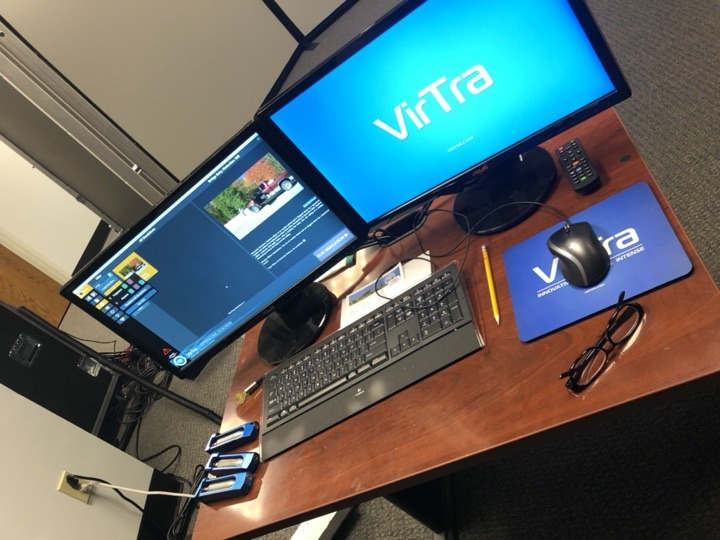 Computer screen showing VirTra instructor operating software